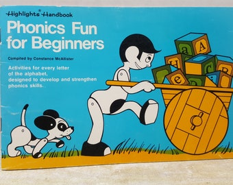 Highlights Handbook, Phonics for Beginners, 1977 Timbertoes, vintage kids book