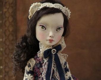 Jeanette -  Art Doll, OOAK, Interior Doll, Boudoir Decor