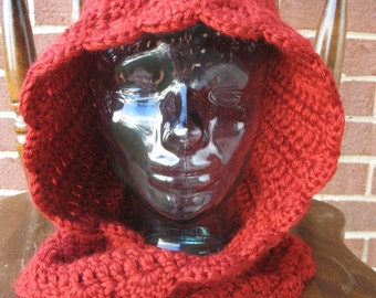 Red Riding Hood cowl handmade crochet || Child, Adult || Ready to Ship