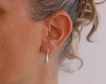 Small drop earrings, Simple silver earrings, Silver teardrop earrings, Everyday simple Minimalist jewelry.