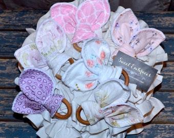 Baby's Sensory Teething Toy ~ Select Fabric Choice