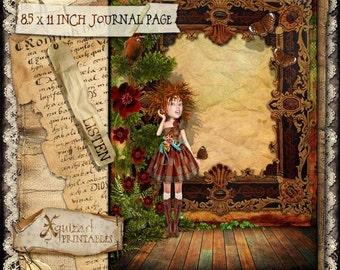 Art Journal Page - Listen