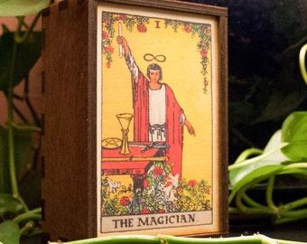 Tarot Cards Box Magician Stash Box Magician Tarot Treasure Box Tarot Magician Mindfulness Gift Magician Spiritual Gift (14002MB)