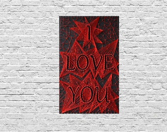 I Love You String Art Heart Family Wall Art Infinity Love You to the Moon and Back Unique Gift for Her and Him Unique Lover Wall Art
