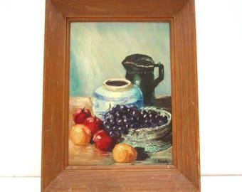 Vintage oil painting tablescape 1