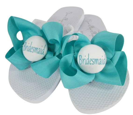 Flower MOB Flops Wedding Sandals Bows Honor Polka Bridesmaid girl the Party and Bride with Maid for Flip Dot of Bridal BIqBxv6