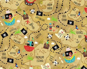 treasure map fabric pirate fabric by the yard timeless treasures c6228 pirate treasure map