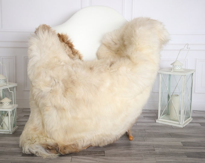 Sheepskin Rug | Real Sheepskin Rug | Shaggy Rug | Sheepskin Throw | Super Large Sheepskin Rug Beige Brown| Home Decor | #HERMAJ78