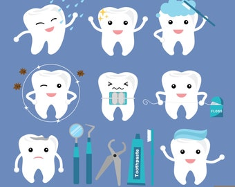 Dental Care Digital Clipart