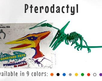 Dinosaur Puzzle, Dinosaur Toy, 3D Dinosaur Skeleton Puzzle, Recyclable PVC Pterodactyl Dinosaur Puzzle Toy - Choice of NINE Colors!