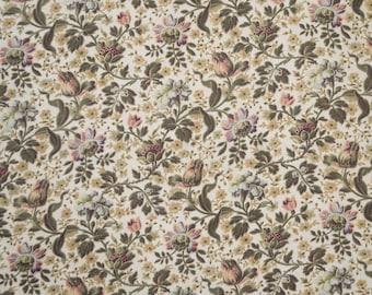 French antique cotton print floral