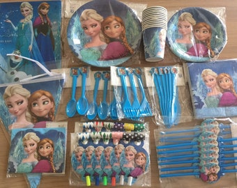 Frozen Party Package Frozen Party Supplies Frozen Birthday Party 154 Pcs