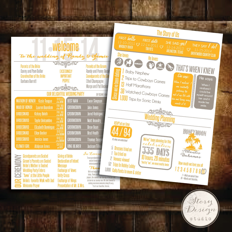 Custom infographic wedding program zoom pronofoot35fo Image collections