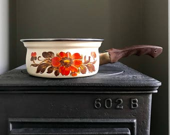 Vintage 1960s Cookware Briard Style Porcelainized Cast Iron