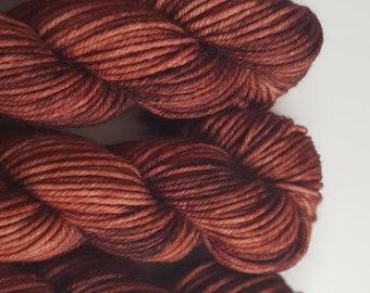 Chestnut 20g Superwash Sock Weight Yarn Mini