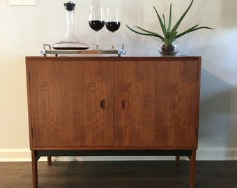 SOLD****for E. Flexner ****Mid Century modern,Danish Modern Teak Media Cabinet, Dry Bar, vintage, Turntable Cabinet