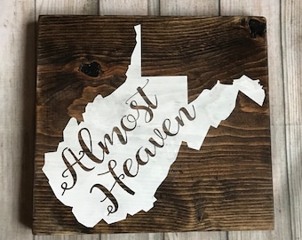 West Virginia almost heaven wood wall decor