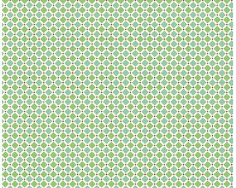 Cozy Christmas by Lori Holt Riley Blake Designs C5366 Green Square, green fabric, green geometric, green quilting cotton yardage, lori holt