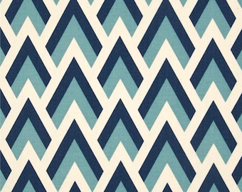 Blue geometric Fabric by the yard Zapp felix natural Premier Prints upholstery Home Decor 1 yard or more SHIPSFAST