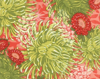 DEAR MUM - 48620-12 - Floral Mums - Pink - Petal - by Robin Pickens for Moda - Large Floral Prints - Modern - Pink - Green - Coral