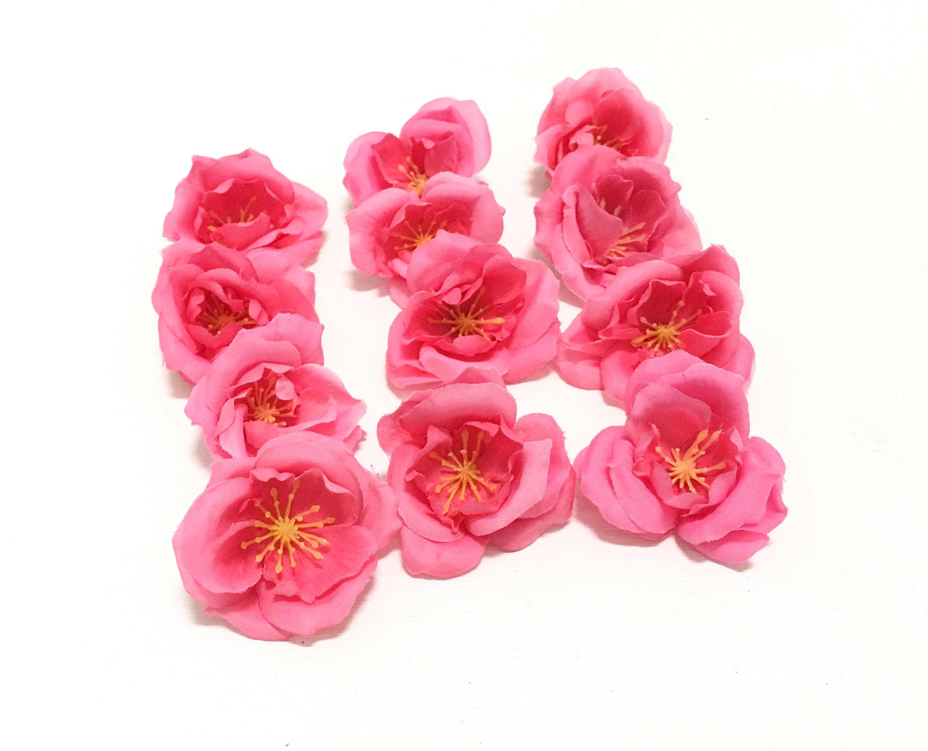 12 small hot pink artificial roses artificial flowers flower 440 shipping izmirmasajfo Images