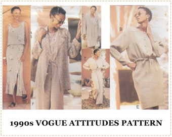 1990s Sewing Pattern - Vogue 1811 Sewing Pattern - Adri Design Misses Resort Jacket, Top, Skirt, Pants - Size 12 14 16 Bust 34 36 38 - UNCUT