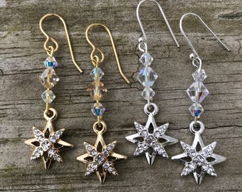 Dangle Drop Star earrings