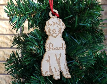 Wooden Golden Doodle Christmas ornament labradoodle Christmas Ornament doodle ornament doodle christmas pet ornament dog lover Labrador dog