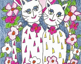"ACEO Print ""Best Friends"""