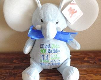 Personalized Birth Announcement  Stuff Animal