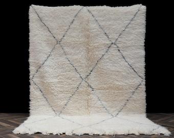 5x8 High quality soft wool rug moroccan rugs - Genuine Beni ourain rug - Authentic Beniourain rug - Morocco rug - Berber rug - boho carpet