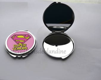 "double Pocket mirror ""special witness"" customizable"
