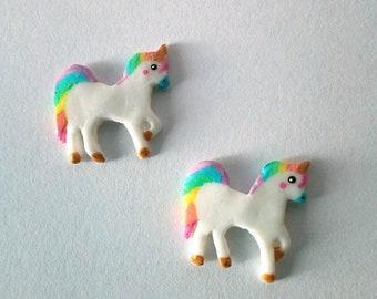 Unicorn - Polymer clay unicorn - Miniatures - Miniature Unicorn - handmade