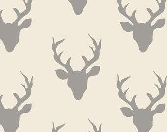 Hello Bear - Buck Forest - Silver - Hello, Bear by Bonnie Christine for Art Gallery- Fabric By the Half Yard