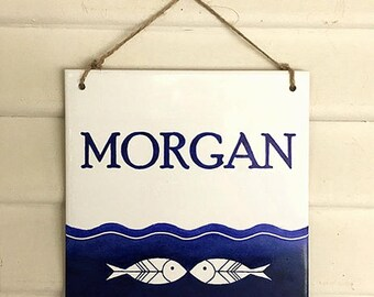 Custom nautical house sign, Lake house sign, Custom beach sign, Outdoor lake sign