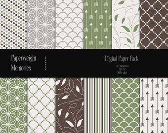 Fresh Air - digital patterned paper - Instant Download -  digital scrapbooking - patterned paper - Commercial use