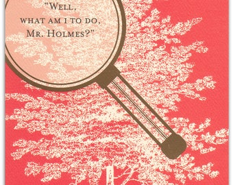 SH414 Sherlock Holmes Hope you're out of the woods soon Encouragement Card
