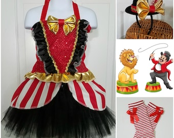 Ringmaster outfit, Ring Master outfit, Ringmaster tutu set, Ringmaster Costume, Ringmaster Birthday, Circus Ringmaster, Carnival Costume