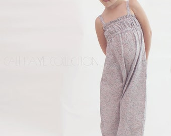 Marina Romper PDF pattern and tutorial, sizes 2t - 10, childrens sewing pattern, instant download