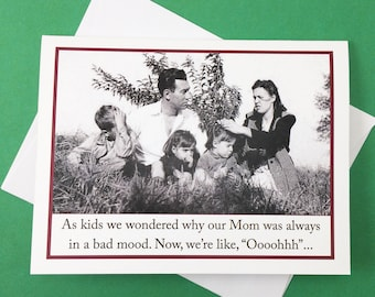 Funny Mother's Day Card, Mother's Day Card, Vintage Photo Card for Mother's Day, Funny Card for Mom, Card for Mom, Funny Mom Card