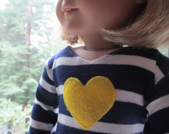 American Girl doll clothes ~ Navy and white striped tee-shirt