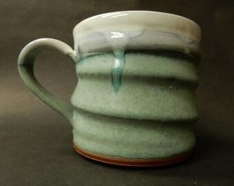 Stoneware pottery turquoise mug….#1535*.