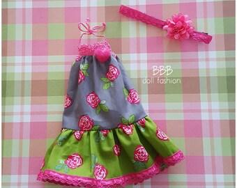 2 piece boho hippie set for blythe doll