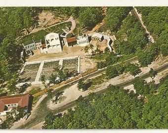 1960s Chrome Postcard-Aerial View of Ampitheatre, Ozarks, Eureka Springs, Arkansas, AR. ~ Carroll County ~ Free Shipping~ Very Small Town PC
