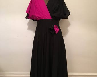 Beautiful vintage black and purple evening dress
