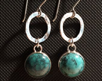 Turquoise Earrings in Sterling Silver