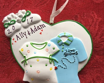 Personalized Expecting Ornament