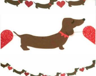 Dachshund Decor, Doxies, Wiener Dog Garland, Sausage Dog