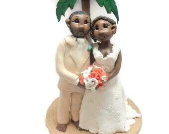 Custom wedding cake topper, Destination wedding cake topper, Bride and groom cake topper, Mr and Mrs cake topper, personalized cake topper
