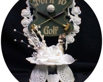 Born to GOLF Cute Golfer Lovers Funny Wedding Cake Topper funny Outdoor nature Groom top Funny 1 of a KIND